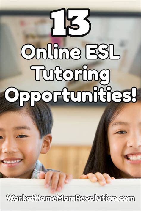 Online Tutor Jobs Work From Home - work at home 13 online esl tutoring job opportunities
