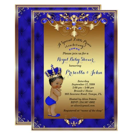 Royal Blue Invitation Card