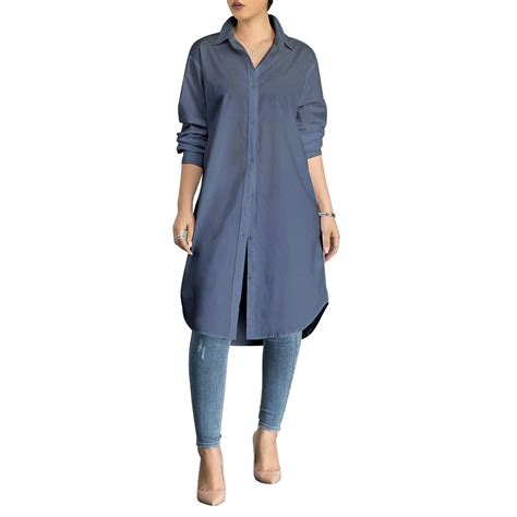 Stylish Oversized Shirts by Fashion Casual Button Front Oversized