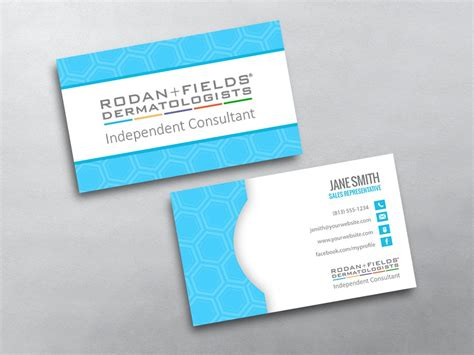 word busines card template fields rodan and fields business cards free shipping