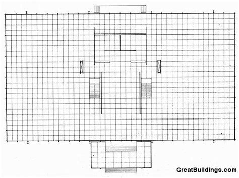 crown hall floor plan crown hall data photos plans wikiarquitectura