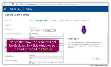 Office 365 Message Trace Performing An Extended Message Trace In Office 365