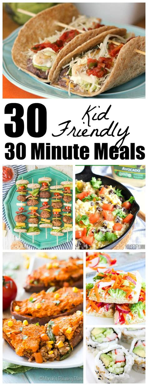 30 Minute Meals 30 kid friendly 30 minute meals the weary chef