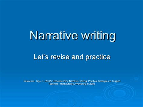 Writing A Narrative Essay Powerpoint by Powerpoint On Narrative