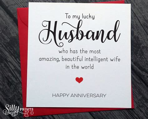 Wedding Anniversary Greeting Card For Husband by Wedding Anniversary Banter For Husband From