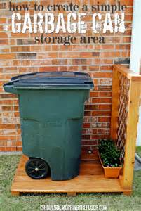 Garage Recycling Storage Ideas I Should Be Mopping The Floor Create A Simple Garbage Can