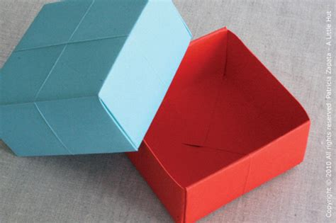 How To Make A Origami Paper Box - 手工教程 handcraft tutorials 10 01 2010 11 01 2010