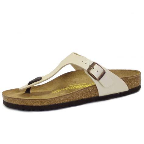 gizeh sandal birkenstock sandals gizeh pearl white toe sandals
