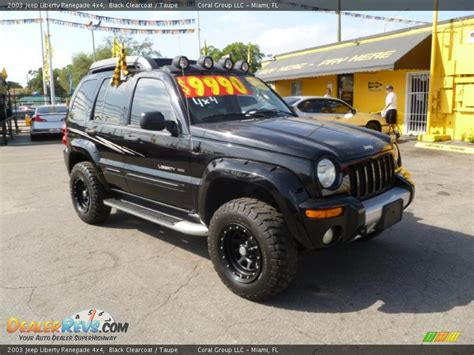 Jeep Liberty Renegade 2003 2003 Jeep Liberty Renegade 4x4 Black Clearcoat Taupe
