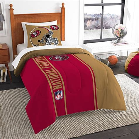 buy nfl san francisco 49ers twin embroidered comforter set