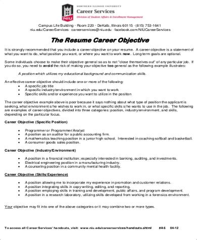 internship resume objective examples accounting internship resume