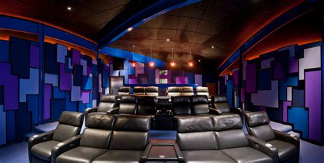 modern home theater contemporary home theater