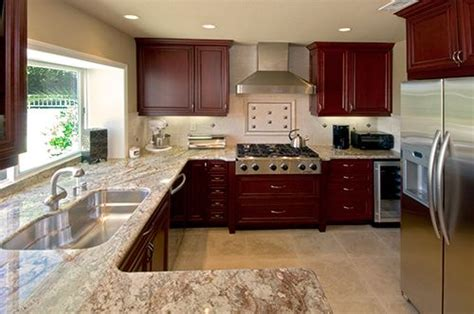 cherry wood cabinets with granite countertop 48 best images about ideas to update current kitchen on