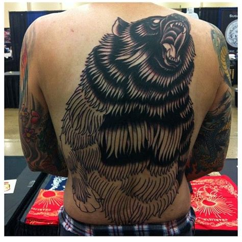 black bear tattoo awesome black