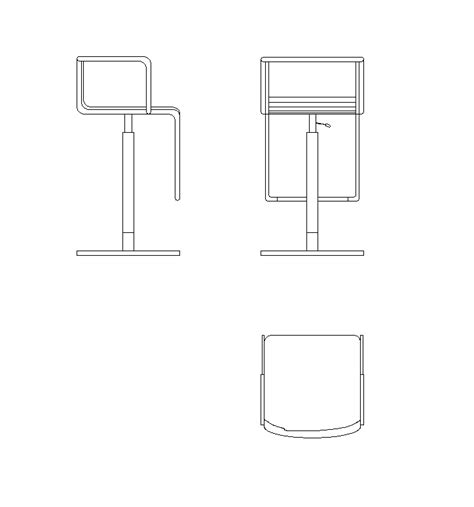 Design Your Own Home Page by 2d Cad Bar Stool Design Cadblocksfree Cad Blocks Free