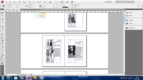 booklet layout pages french connection fcuk booklet adobe indesign