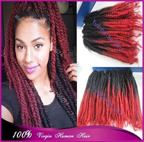 hair ombre kinky twist cheap price 20 quot stock black red ombre marley braid afro