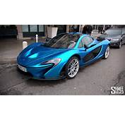 Bright Blue McLaren P1 In Geneva  YouTube