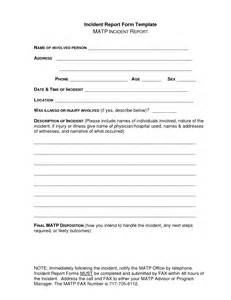 incident report form template best photos of incident report sle incident