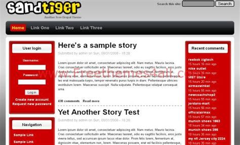 drupal theme links system main menu simple red gray drupal theme download