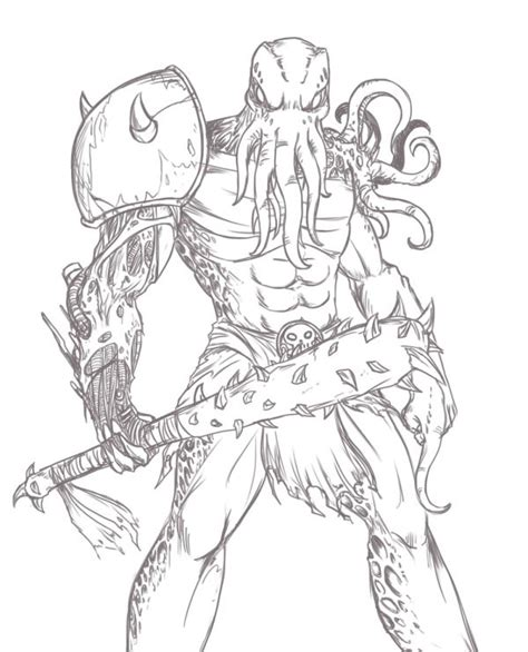 humanoid monster sketch by phantom62 on deviantart