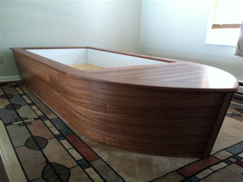 boat bed custom mahogany boat bed for kids toddlers the hull