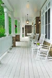 White Porch white plank floor cottage porch