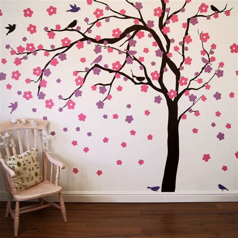wall sticker tree summer blossom tree wall stickers by parkins interiors