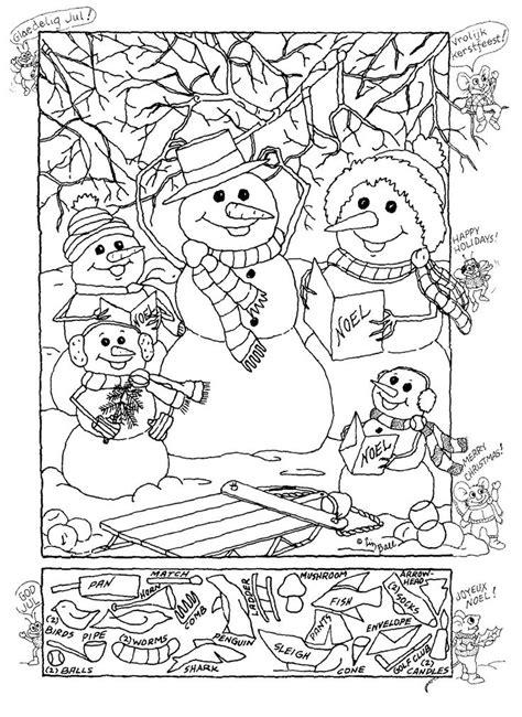 Hidden Pictures Publishing Snowman Hidden Picture Puzzle Coloring Pages Search