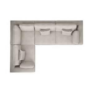 Sofa top view perry preconfigured l sofa by modloft yliving