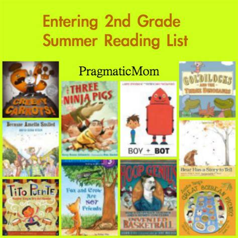 second books rising grade summer reading list pragmaticmom