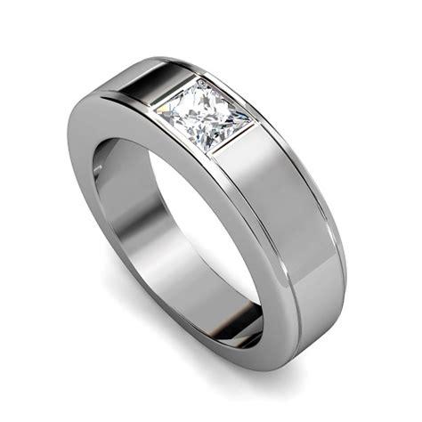 ct princess cut diamonds mens wedding band  kt