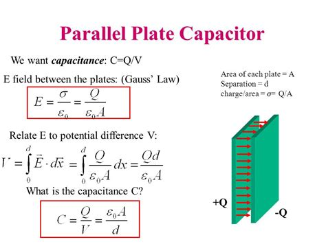 capacitance for a parallel plate capacitor physics 2102 gabriela gonz 225 physics 2102 capacitors ppt