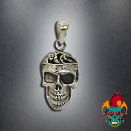 tattoo parlor earrings carved upper head silver pendant village tattoo nyc