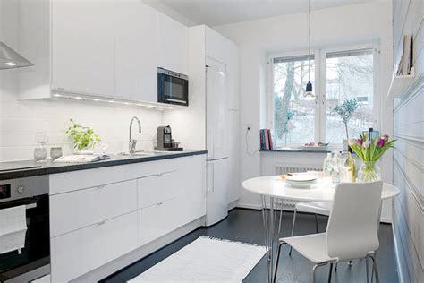 swedish small apartment kitchen design home round small swedish apartment exhibiting charming design details
