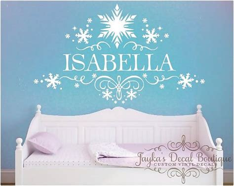 snowflake bedroom 17 best ideas about personalized wall decals on pinterest