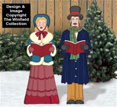 christmas victorian caroling couple pattern