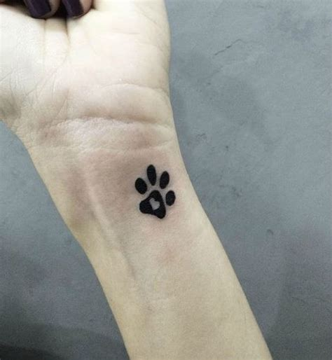 50 amazing paw print tattoo ideas for pet lovers 2018