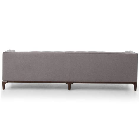 tufted upholstered sofa saville modern classic tufted grey fabric upholstered sofa