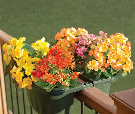banisters flowers deck railing flower planters interior design ideas