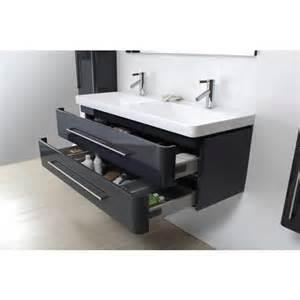 meuble salle de bain vasque gris laqu 233 brillant