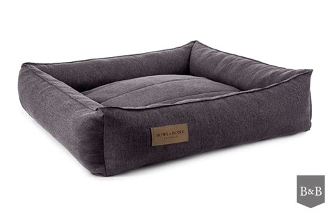 bed and bone bowl and bone urban dog bed brown luxury dog beds