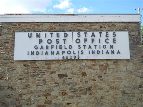 Post Office Indianapolis by Indianapolis Garfield Station In Post Office 46203