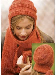 knitting pattern hat with scarf attached nomad hat and scarf gifts whimsies more patterns