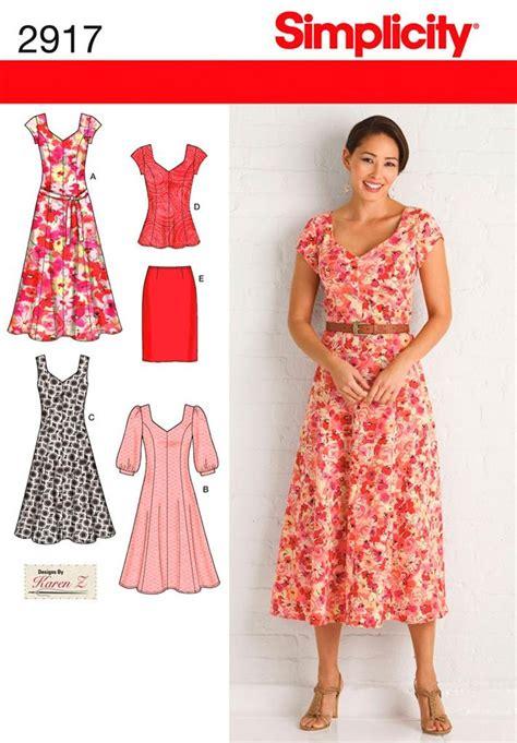 simplicity 2917 sewing pattern dress tunic skirt