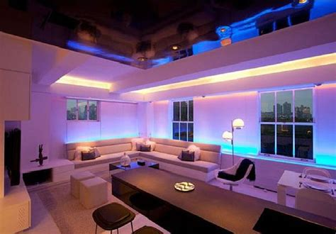 modern apartment furniture design interior decor and mood lighting