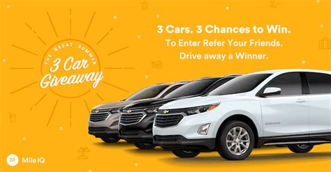 great summer 3 car giveaway win a chevy equinox - Great Car Giveaway