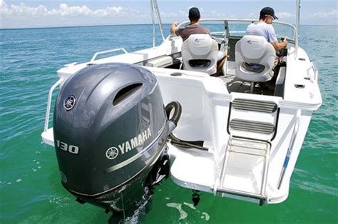 yamaha motor boat yamaha f130a outboard launch full report trade boats