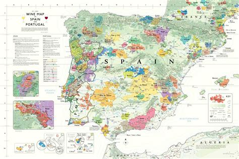 wine map wine map of spain portugal