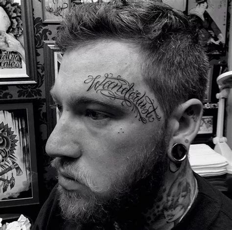 90 face tattoos for men masculine design ideas